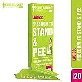 PEE BUDDY Urinal aus Pappe PIPI Trichter für Frauen, Pinkeln im Stehen, Urinierhilfe für Frauen Antibacterial 20 PIPI Trichter für Frauen