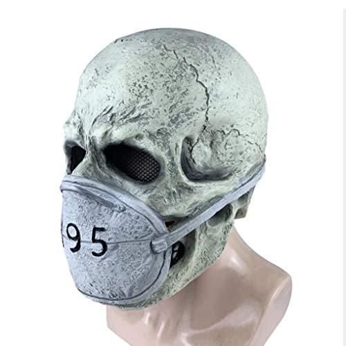 ABCDE Maschera Halloween, COVID-19 Mascherina di Orrore, Copricapo in Lattice Adulto Maschio e Femmina per Bambini, Oggetti di Scena per Giochi di Ruolo, Regalo Perfetto (Color : Mask 1)