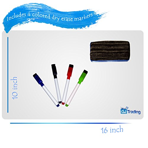 """Dry Erase Fridge Whiteboard Sheet 16""""x10""""