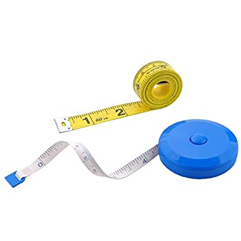 Edtape 2PCS Measuring Tape for Body,Soft Tape Measure for Body Sewing Fabric Tailor Cloth Craft Measurement Tape,60 Inch/1.5M Blue Retractable Dual Sided Measure Tape Set