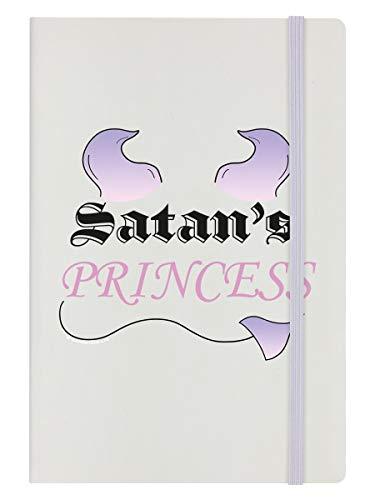 A5 Notizbuch Hardcover Satan's Princess 14 x 21 cm creme