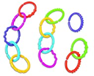 Richly coloured, lumpy, bumpy, squiggly linking rings. Easily snap together to form links. Featuring lots of intriguing textures to touch and feel, which help to develop baby's fine motor skills. Pack of 12 Linkets in assorted colours. Suitable from ...