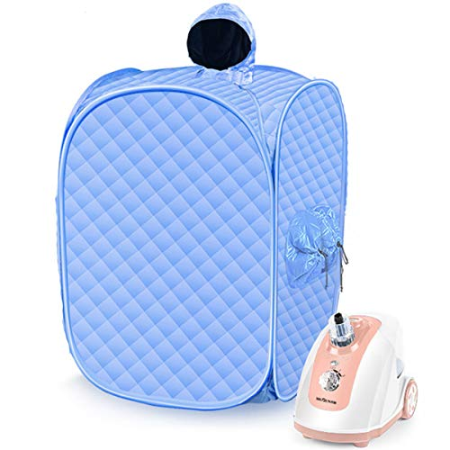 Portable Steam Sauna for Home Sauna Spa, Personal Saunas Room Weight Loss Body Slimming Detox Relieve Stress Fatigue,Blue