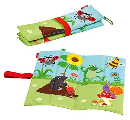 moses. Krabbelkäfer Sitzmatte, Faltbares Sitzkissen für Kinder aus 100% Polyester, ideal für Kindergarten, Camping oder Ausflüge in den eigenen Garten geeignet