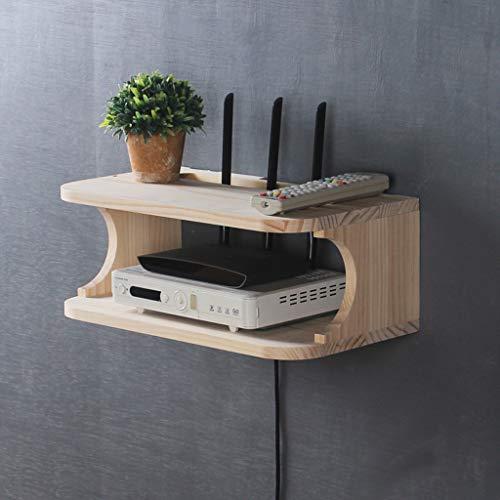 木製壁掛けテレビウォールシェルフルーターセットトップボックステレビリモコンDVDプレーヤープロジェクター収納棚多機能ディスプレイ棚