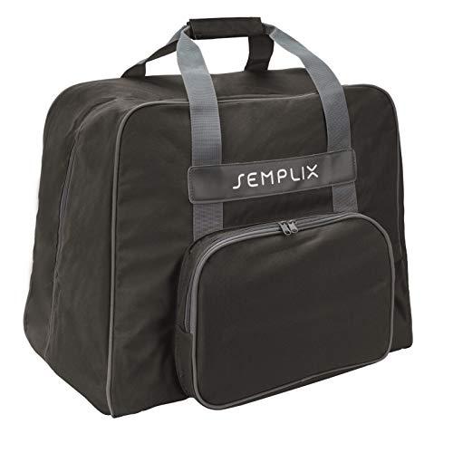 SEMPLIX Overlocktasche - Coverlocktasche 44x38x33 cm, für alle gängigen Overlock und Coverlock Maschinen (Schwarz)