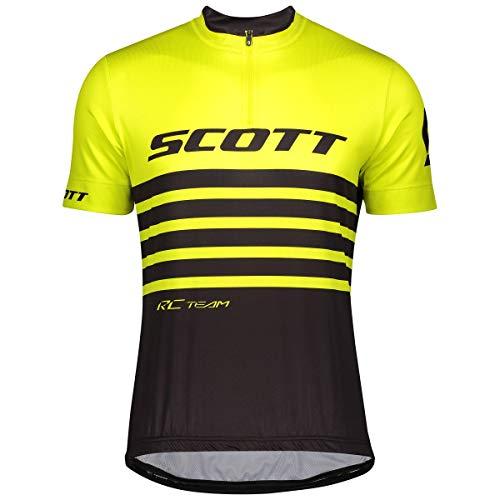 Scott RC Team 20 Fahrrad Trikot kurz gelb/schwarz 2020: Größe: M (48/50)