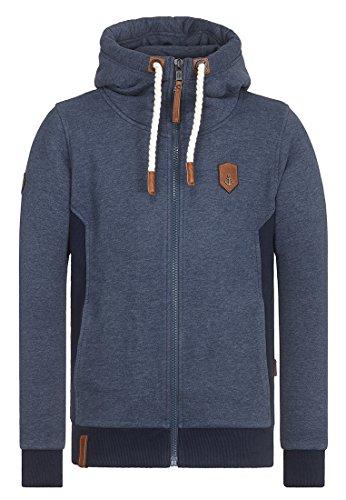 Naketano Male Zipped Jacket Birol Indigo Blue Melange, S