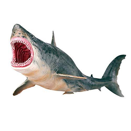Figura Tiburón Juguete, simulación Megalodon Miniatura Animal Juguete colección estatuilla Modelo...