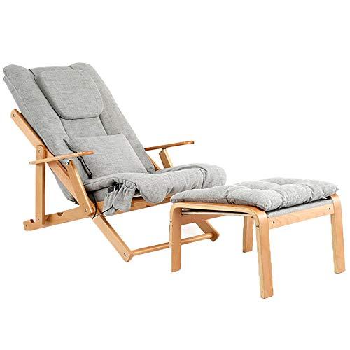 Lazy opvouwbare massage chair massage chair massage automatische balcony stille stoel huis multifunctionele bank balcony grijs