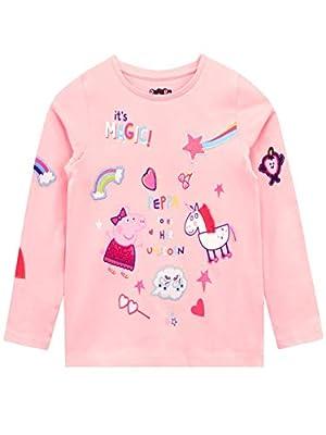 Peppa Pig Camiseta de Manga Larga para niñas Unicornio Rosa 4-5 Años