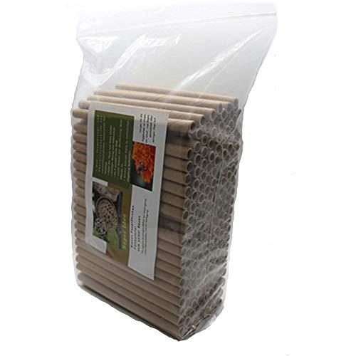 Super Idee 200er Set Pappröhrchen füllung für Insektenhotel Insektenhaus Wildbienen Nisthilfe Wildbienenhotel Wildbienenhaus Bienenhotel Hummelhotel Hummelhaus Füllmaterial Bienenkasten Insektenkasten