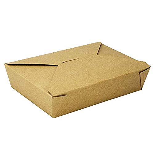 Contenedores desechables de papel Kraft para llevar - Contenedores de comida...