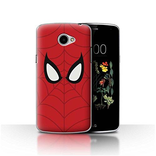 Hülle Für LG K5/X220 Superheld Comic-Kunst Spider-Man Maske Inspiriert Design Transparent Ultra Dünn Klar Hart Schutz Handyhülle Hülle
