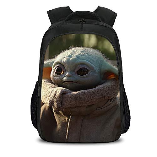 Baby Yoda Schüler Schultasche Casual Rucksack 3D gedruckt interessante Street Fashion Reisetasche Laptop Rucksack