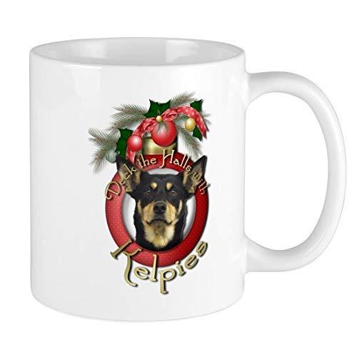 N\A Deck The Halls - Taza de cerámica de 11 onzas, Divertida y novedosa, Taza de café, Mejor Idea de Navidad, Vacaciones de año Nuevo para Familiares, Amigos, compañeros de Trabajo,