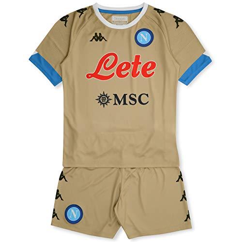 SSC Napoli Equipación competición Portero casa Niño 2020/21 Kit Home, Unisex niños, Beige-Azure, 5 años