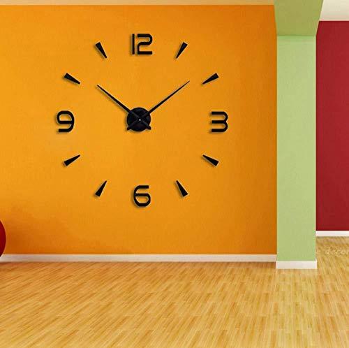Wandklok 2019 Klok Horloge Wandklokken Horloge 3D DIY Acryl Spiegel Stickers Huisdecoratie Woonkamer Quartz Naald37inch