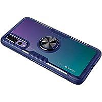 SORAKA Funda Transparente para Huawei P20 Pro con Anillo Giratorio de 360 Grados Cubierta Transparente de PC Dura+Parachoques de Silicona,con Placa de Metal para Soporte Móvil Coche Magnético