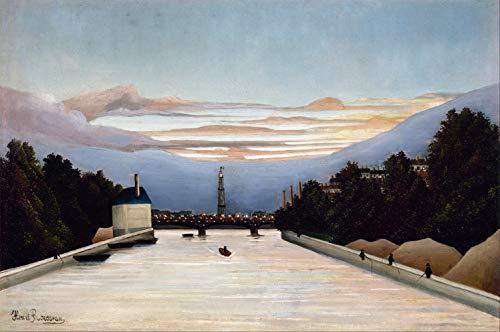 La Tour Eiffel La Tour Eiffel par Henri Julien Rousseau. 100% peinte à la main. Reproduction de haute qualité. Livraison gratuite (non encadrée et non étirée). Taille de la peinture: 132,1x86,4 cm.