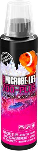 MICROBE-LIFT Zoo-Plus - Futterplankton (Tierisches Qualitäts-Plankton für Korallen & Fische in jedem Meerwasser Aquarium, steigert das Wachstum und die natürliche Farbgebung) 236 ml