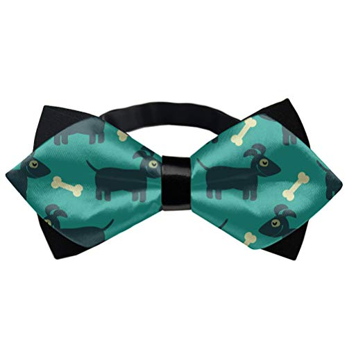Formal Pre-Tied Bow Tie - Dog and Bone - Party Birthday Gift Tuxedo Neck Band Cravat, Adjustable Length Classic Bow Ties