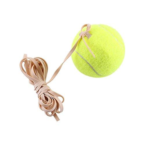 Nimoa Juego de Pelota de Rebote de Entrenador de Pelota de Tenis - con Cuerda de Goma Elástica Ayuda de Entrenador de Tenis para Practicar Solo