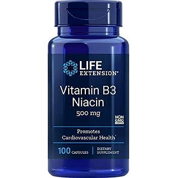 Life Extension Vitamin B3 Niacin 500 Mg 100 capsules