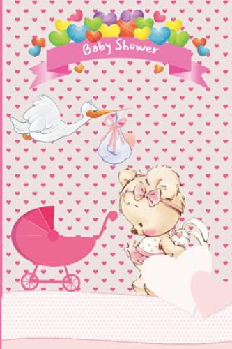 Carnet de notes Baby shower: Carnet de poche à offrir pour baby shower, dimension 10x15 cm, 80 pages lignées sur papier crème, gender reveal, bébé fille, rose