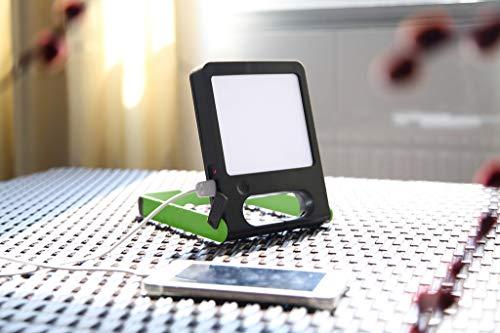 CGC - Luz LED solar portátil compacta para interiores y exteriores, jardín, mesa de trabajo, jardín