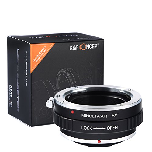K&F Concept® Minolta(AF)-FX Objektivadapter Adapter Fuji Objektiv Adapterring für Minolta AF Objektiv auf Fujifilm X-Mount Bajonett Systemkamera Fuji Finepix X-T1,X-E2,X-E1,X-A1,X-M1,X-Pro1