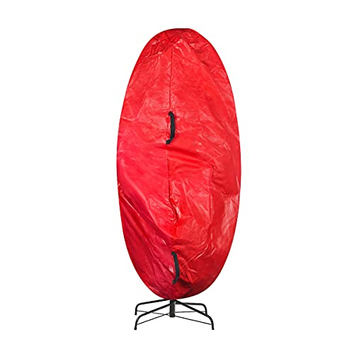 Elf Stor Premium Christmas Tree Cover Holiday Red XL Size for For 9 Ft Tree