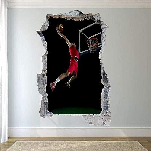Wandtattoos-3D-BASKETBALL WALL STICKERS ART MURAL ROOM BÜRO SHOP DEKOR-50x70cm