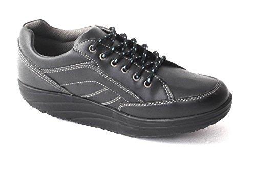 Damen Herren Aktiv Outdoor Schuhe Fitnessschuhe Sneaker Gesundheitsschuhe Gondelschuhe Aktivschuhe Freizeitschuhe Schnürschuhe schwarz Gr. 39-