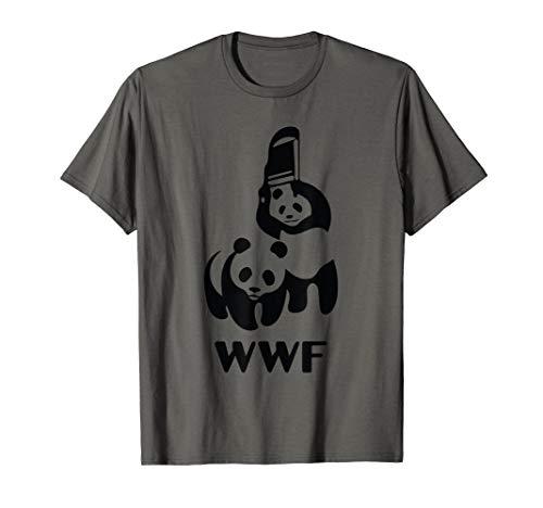 Wrestling Pandas Funny T-Shirt