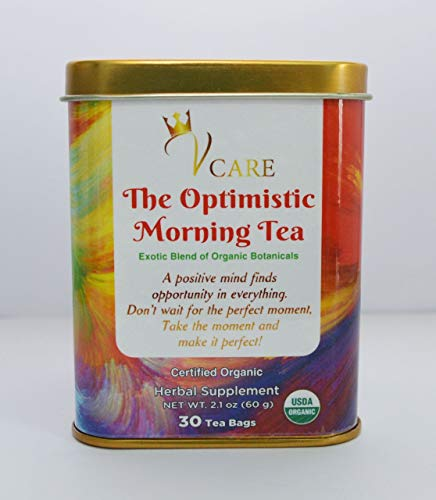 Organic Herbal Blend Tea-Morning Tea, Energy boost and stress relief tea bag, Anti inflammatory,Detox, Well being, Anti Anxiety