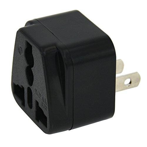 Adaptador de enchufe para visitantes de Reino Unido a Estados Unidos, Canadá, Tailandia, México, Japón, Taiwán, de color negro