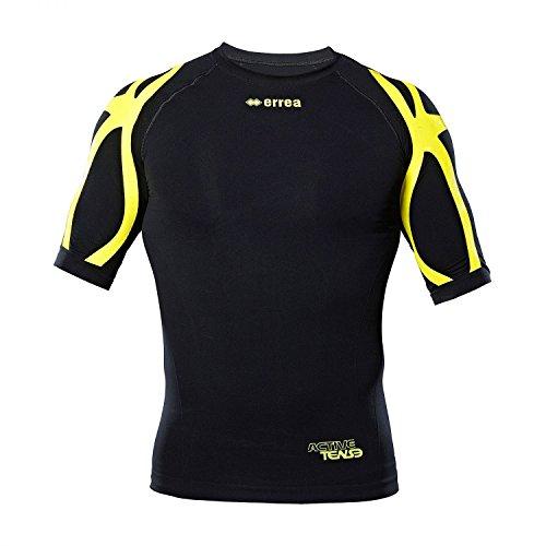 SAIPH Muskelfunktionsshirt· UNISEX Damen & Herren Kompressionsshirt · UNIVERSAL Funktionsshirt für Jugendliche & Erwachsene Größe XL, Farbe schwarz-neongelb