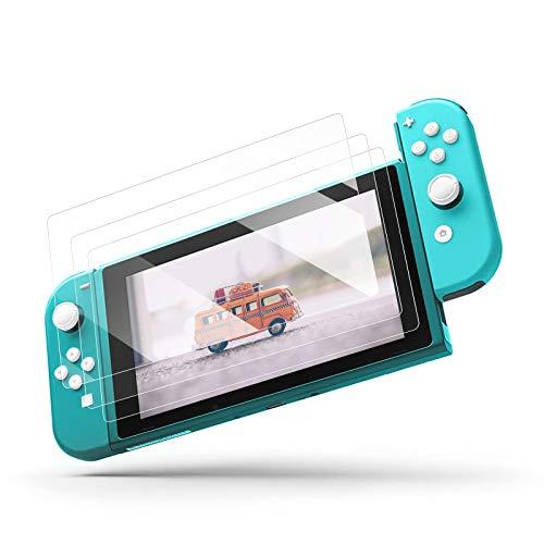 【3 Stück】Panzerglas Schutzfolie für Nintendo Switch Lite 2019, Displayschutzfolie Glas, HD Panzerglasfolie, 9H Härte Anti-Kratzer Schutzglas Folie, für Nintendo Switch Lite 2019 Displayschutz