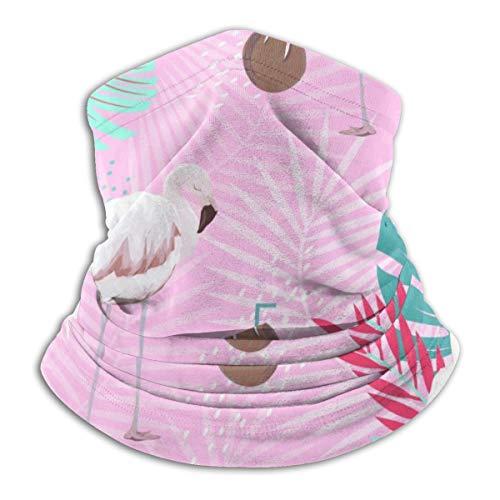 Akhy Multifunctional Headwear Face Mask Headband Neck Gaiter Pink Flamingo Creative Fashionable Print Balaclava for Men and Women