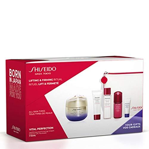 Shiseido vital perfection crema 50ml + jabon limpiador 15ml + tonico 7ml +ultimune infusion 10ml + crema noche 5ml