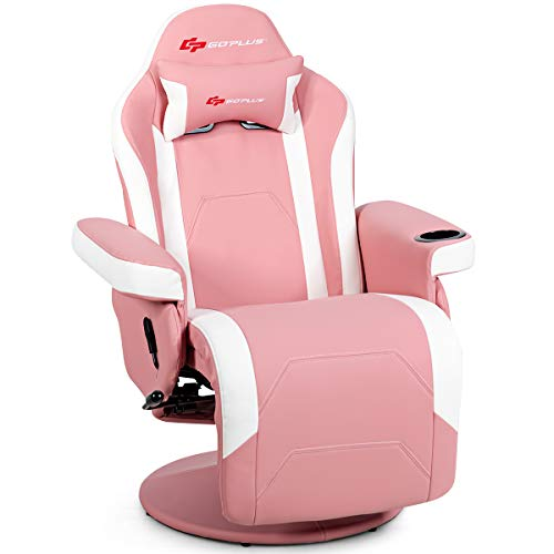 Goplus Massage Gaming Chair, Racing Style Gaming Recliner w/Adjustable Backrest...