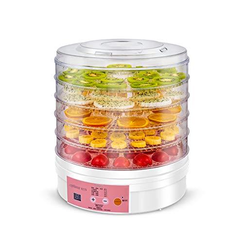 Haushaltsnahrungsmittelkonservierungsmaschine Fruit Dryer, Intelligent Timing Energieeinsparung 5-Schicht-Kapazität 360 ° Trocknung Haushalt Einfache Operation Fruit Dryer 350W