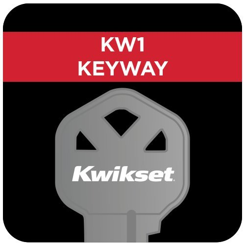 Kwikset Montara Single Cylinder Handleset with Juno Knob featuring SmartKey in Polished Brass