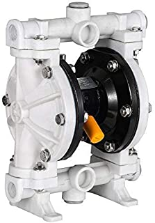Cozyel Air-Operated Diaphragm Pump Double Diaphragm Pump 1/2 inch Inlet & Outlet, Air Diaphragm Pump Dual Diaphragm Air Pump Polypropylene 13 GPM Max 100PSI
