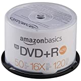 AmazonBasics - Torre de DVD+R de 4,7 GB (16x, 50 unidades)