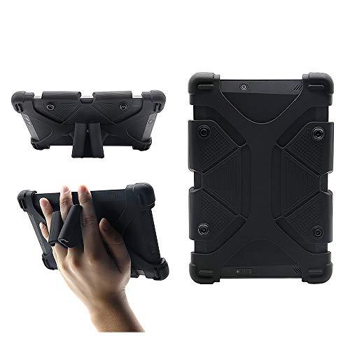 CHINFAI Universal 8 inch Tablet Case, Silicone Protective Cover 7.9 -9  for Galaxy Tab 4 A S2 E 8.0, F i r e HD 8 HDX, iPad Mini 1 2 3 4 5, AT&T Verizon Alcatel 8  Tablet, Black