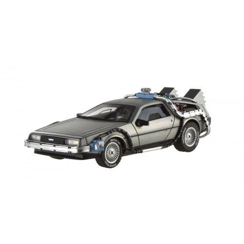 Hotwheels - Elite (Mattel) - X5493 - Véhicule Miniature - Modèle À L'Échelle - De Lorean Back To The Futur I - Echelle 1/43