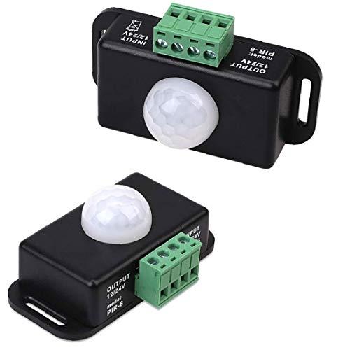 Interruptor DC12V-24V LED Dimmer de Funciones de Movimiento Cotroller para 5050 3528 5630 LED Tiras Flexibles de luz para el hogar Armario de la Cocina Escaleras Iluminación