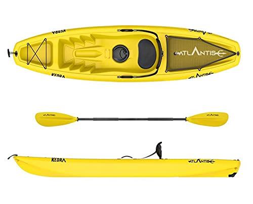 ATLANTIS Kayak-Canoa KEDRA Gialla cm 268 - seggiolino - gavone - ruotino - pagaia